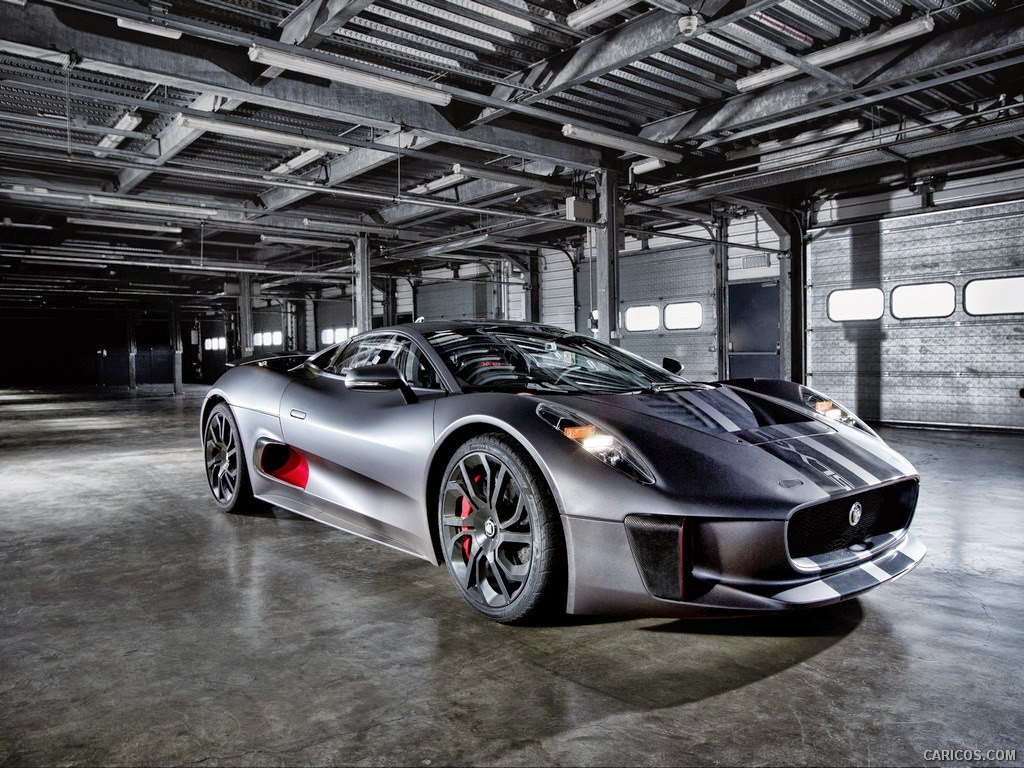 The Jaguar C-X75 which will feature in Spectre