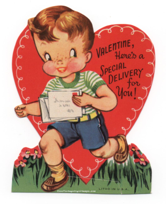 FREE ViNTaGE DiGiTaL STaMPS Free Vintage Printable Sweet – Vintage Valentine Cards to Print