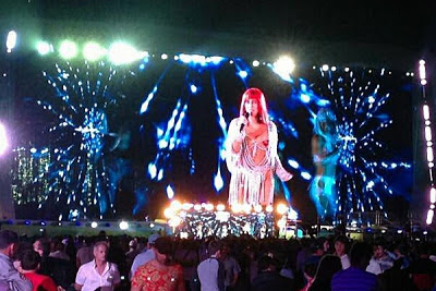 Cher singing 'Believe' in Russia