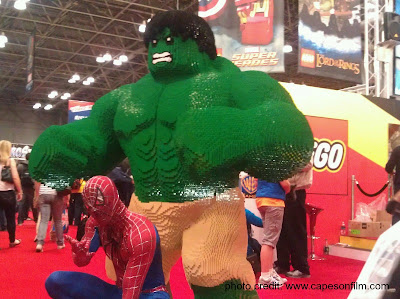 New York Comic Con cosplayers, Capes on Film, superheroes