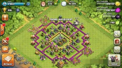Mendapatkan Gems Gratis di Clash of Clans