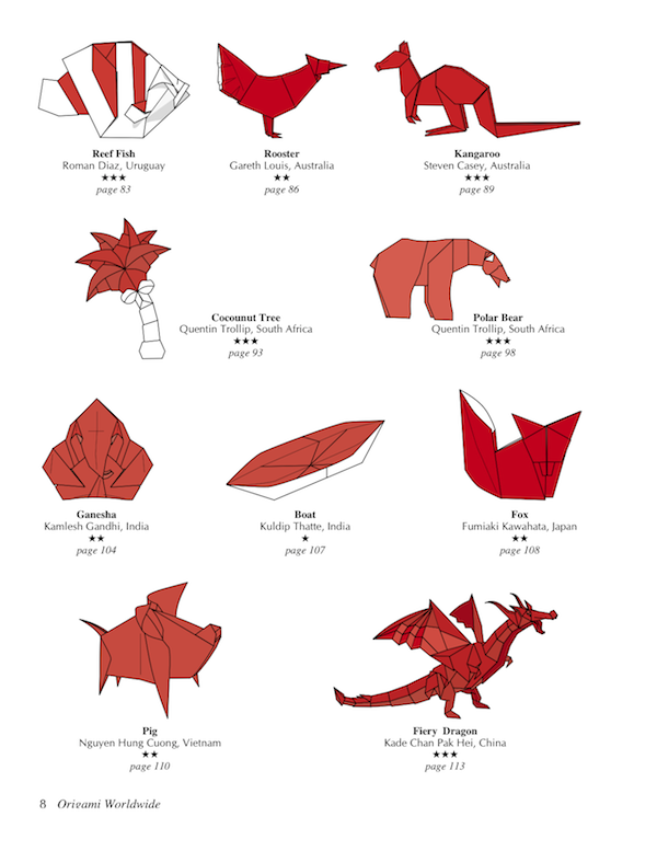 Origami Fiery Dragon Diagram
