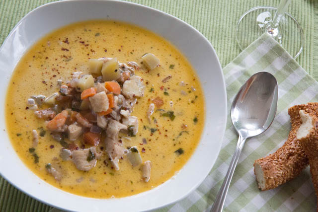 Seafood Chowder Fischsuppe Rezept