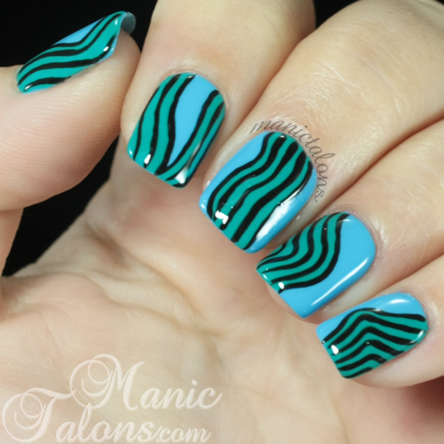 Curvy Abstract Nail Art with Madam Glam