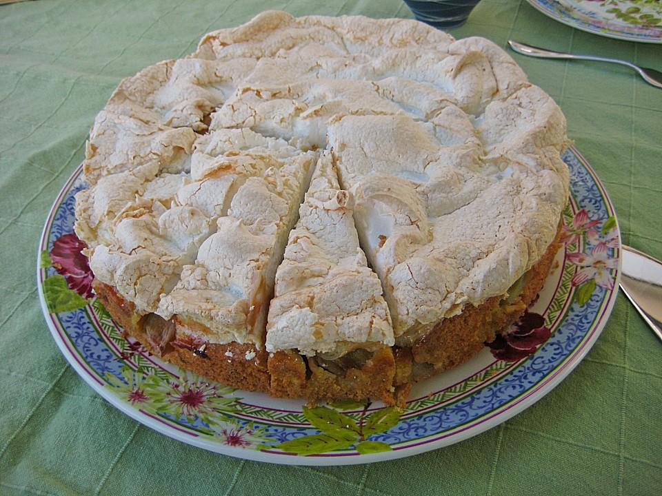 Kuchen torten rezepte rhabarber baiser kuchen for Kuchen unterschrank 150 cm