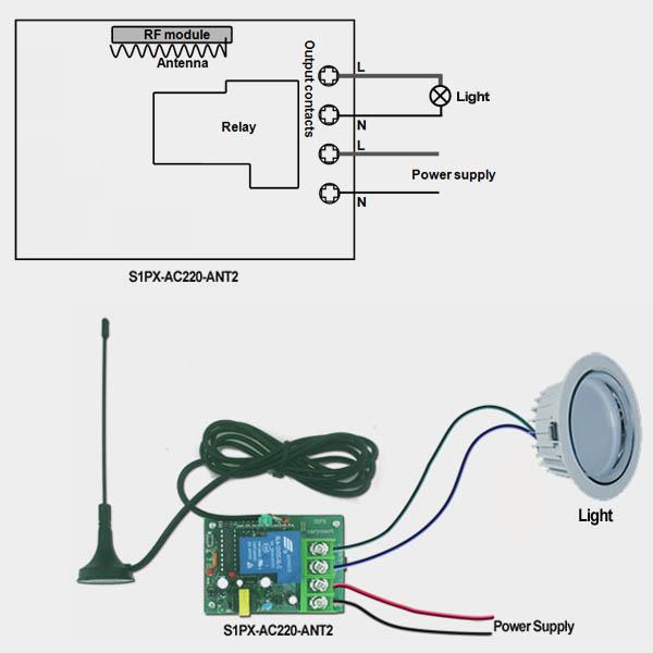make a simple rf remote control alarm system. Black Bedroom Furniture Sets. Home Design Ideas