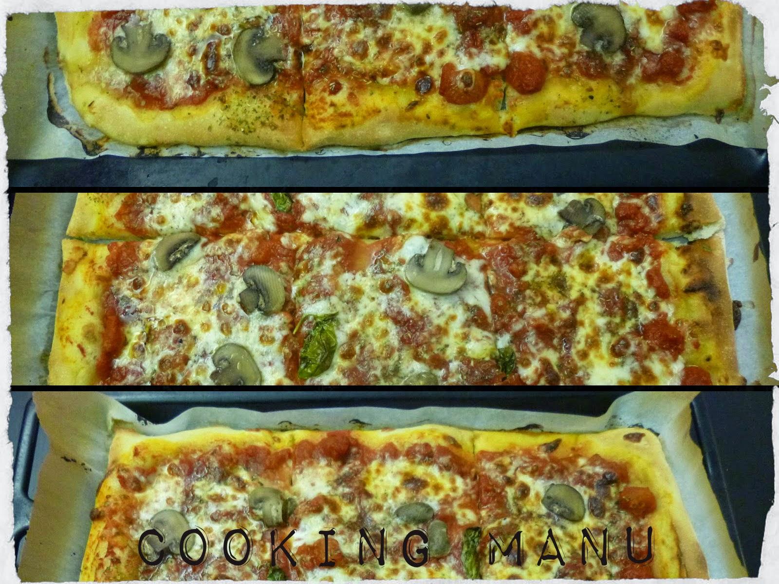 pizza e funghi (pizza with mushrooms)