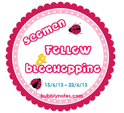 Segmen: Follow & Bloghopping Bubblynotes.Com.