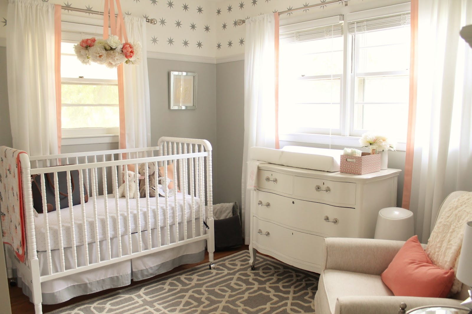 peach paint colors12th and White Peach and Gray Nursery Reveal
