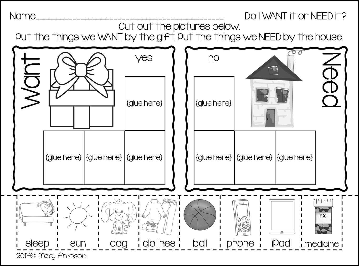 http://www.sharingkindergarten.com/2014/12/wants-and-needs-with-freebie.html
