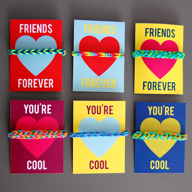 Rainbow Loom Valentines (Free Printable Valentines Cards) By Hey Jenn Renee