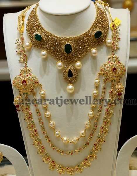Colorful Cz Haram In 3 Steps Jewellery Designs