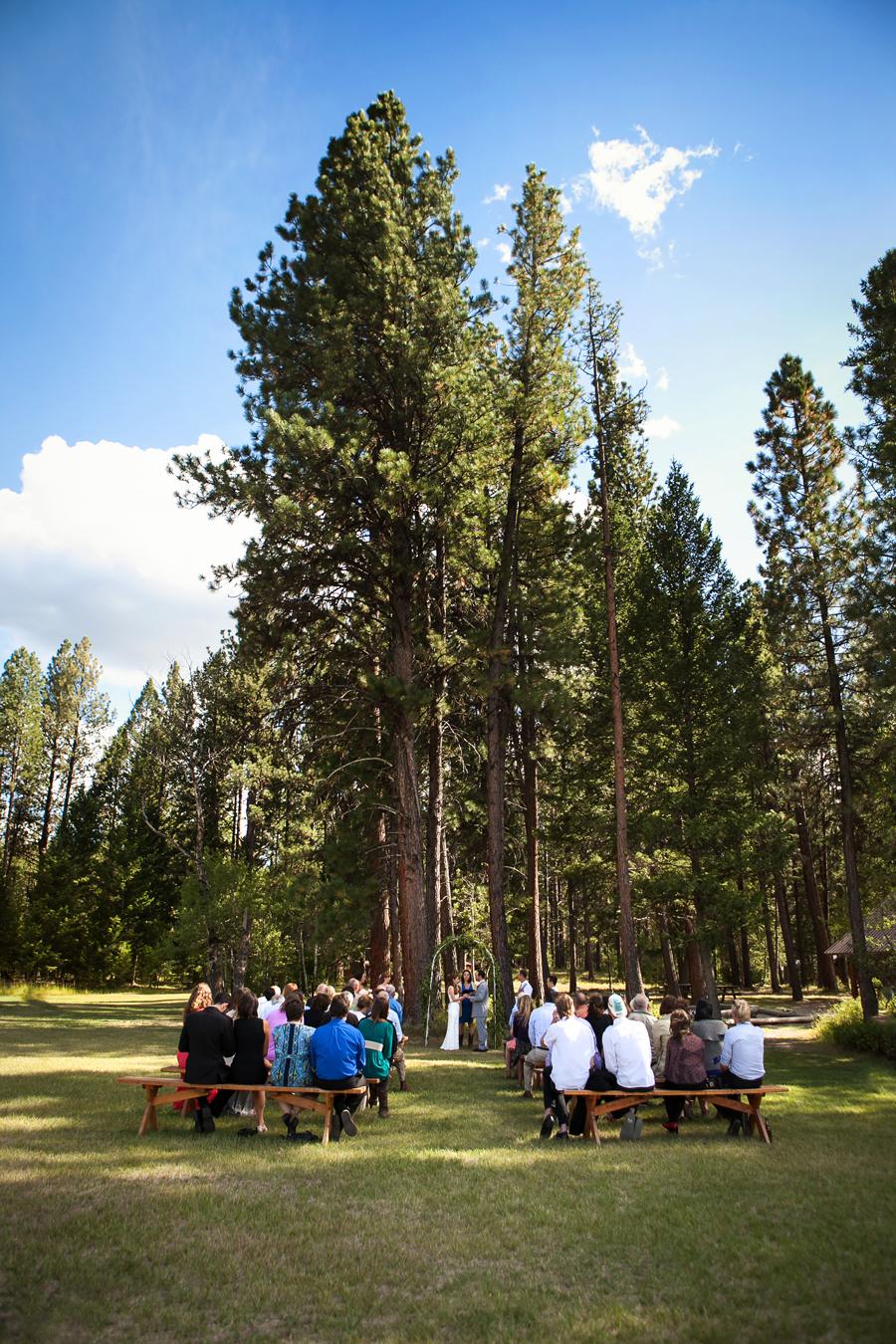 montana wedding ceremony