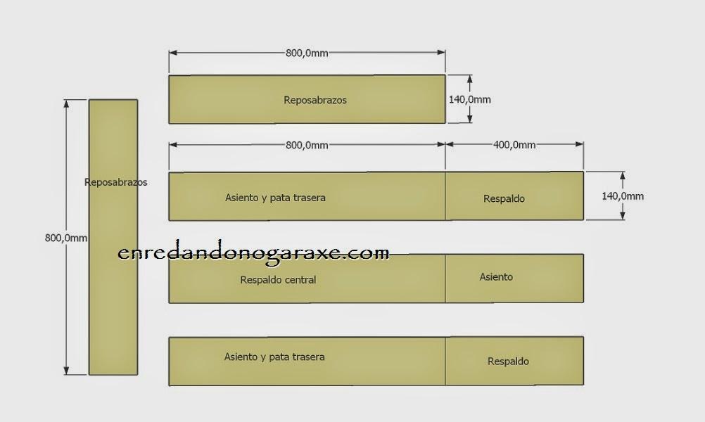 Planos diagrama de corte de las tablas anchas. Enredandonogaraxe.com