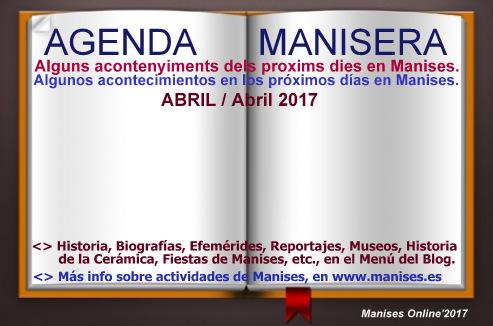 AGENDA MANISERA, ABRIL 2017
