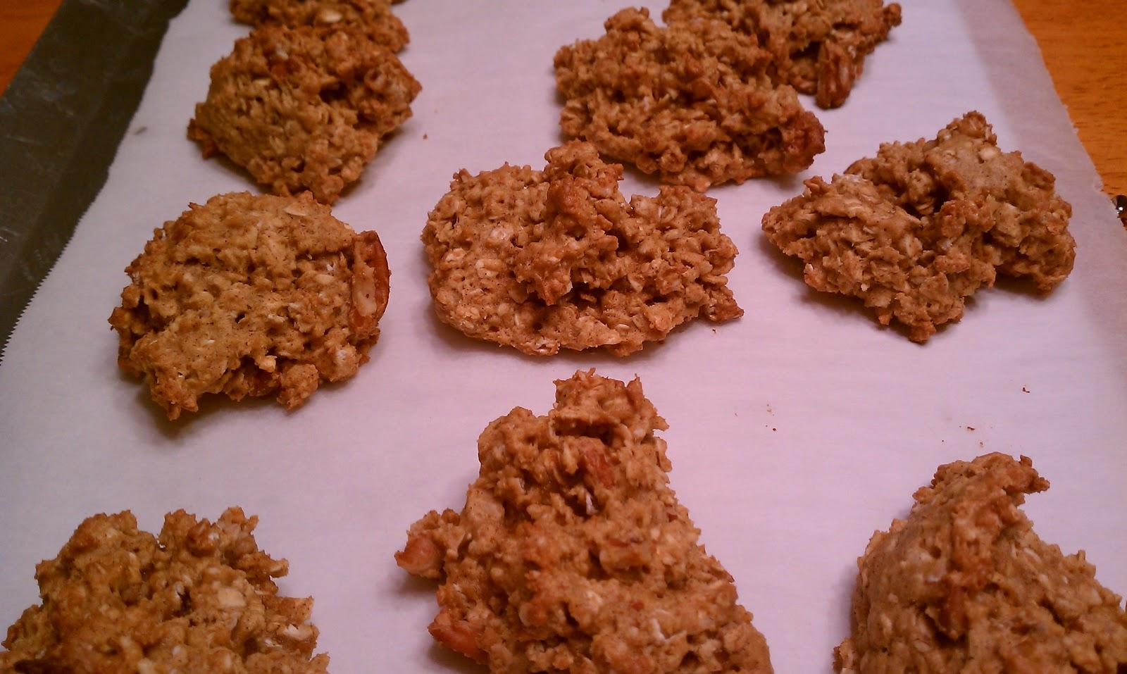 ms. dawn's kitchen.: Pumpkin Spiced Oatmeal Pecan Cookies