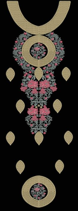 Necklines for Salwar Kameez | Ladies Dress Embroidery Design | Machine embroidery neckline designs