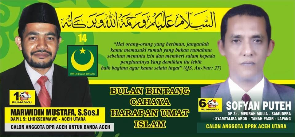 Calon Anggota DPR Kabupaten Aceh Utara Nomor Urut 6. Pemilu Legislatif 2014 DaPil-3 ; Meurah Mulia, Samudera, Syamtalira Aron, Tanah Pasir, Lapang