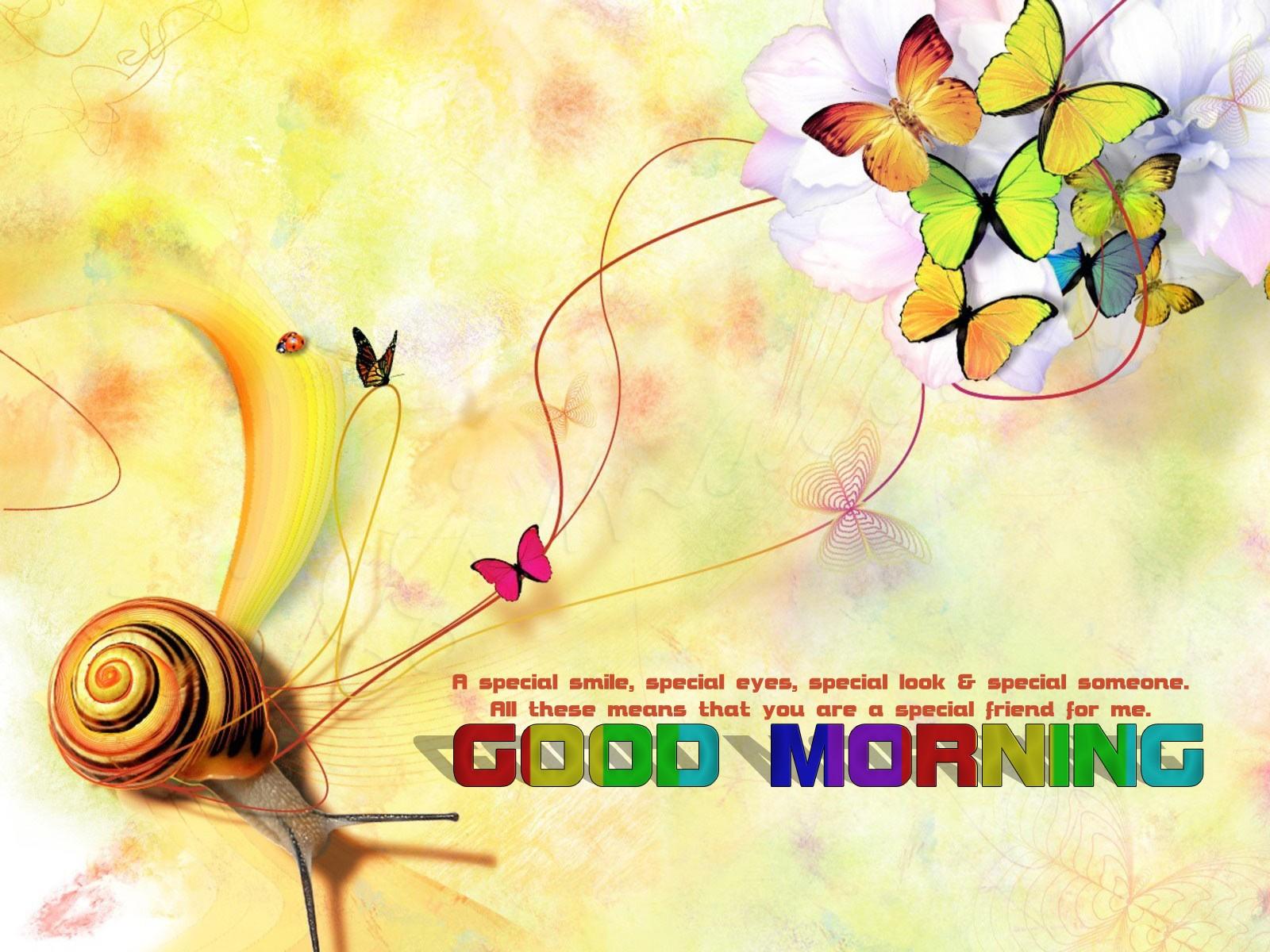 Good Morning Wallpaper HD Butterfly