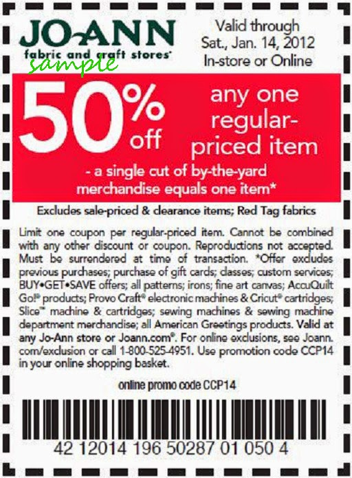 Joann fabrics and crafts coupons
