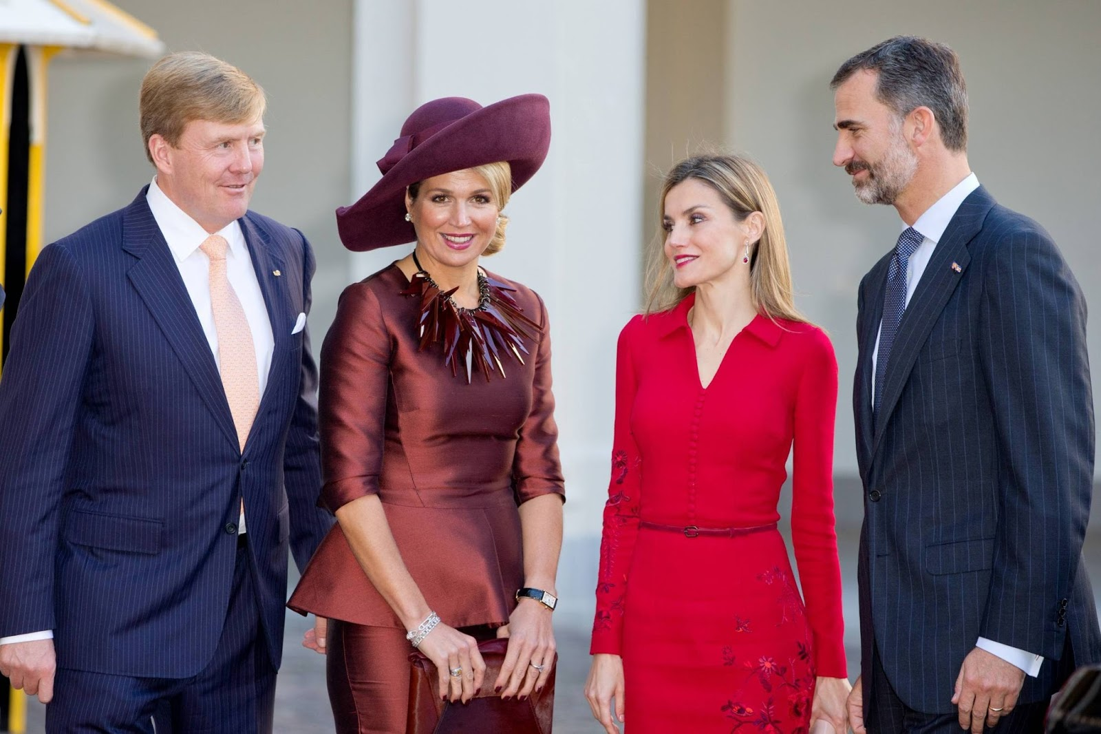 King Felipe and Queen Letizia of Spain visit King Willem-Alexander and Queen Maxima