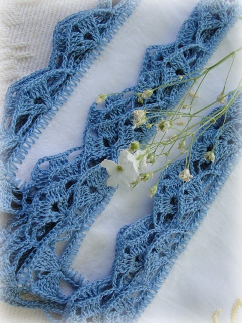 Lacy Crochet: Handkerchiefs with Crochet Lace Trim