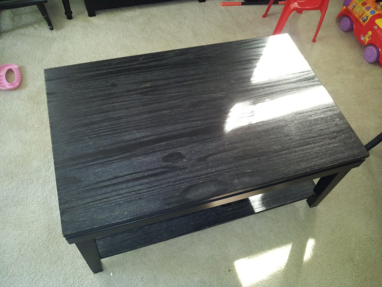 Our Pinteresting Family Coffee Table Repurpose