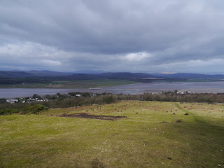 Looking down to Arnside and the Kent Estuary from Arnside Knott