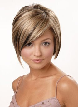short hairstyles women face