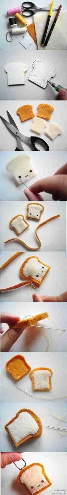 cara membuat Sandwich dari kain flanel