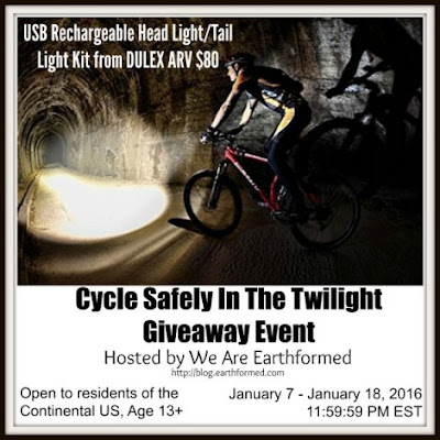 Enter the  Cycle Safely In The Twilight DULEX Giveaway Ends 1/18
