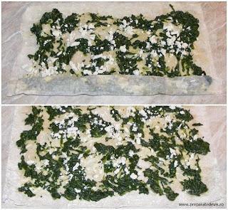 preparare placinta cu spanac si branza, preparare placinta greceasca cu spanac si branza telemea, retete culinare, retete cu spanac, preparate din spanac, retete grecesti, retete placinta de casa, reteta placinta,