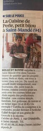 Vu dans le Parisien