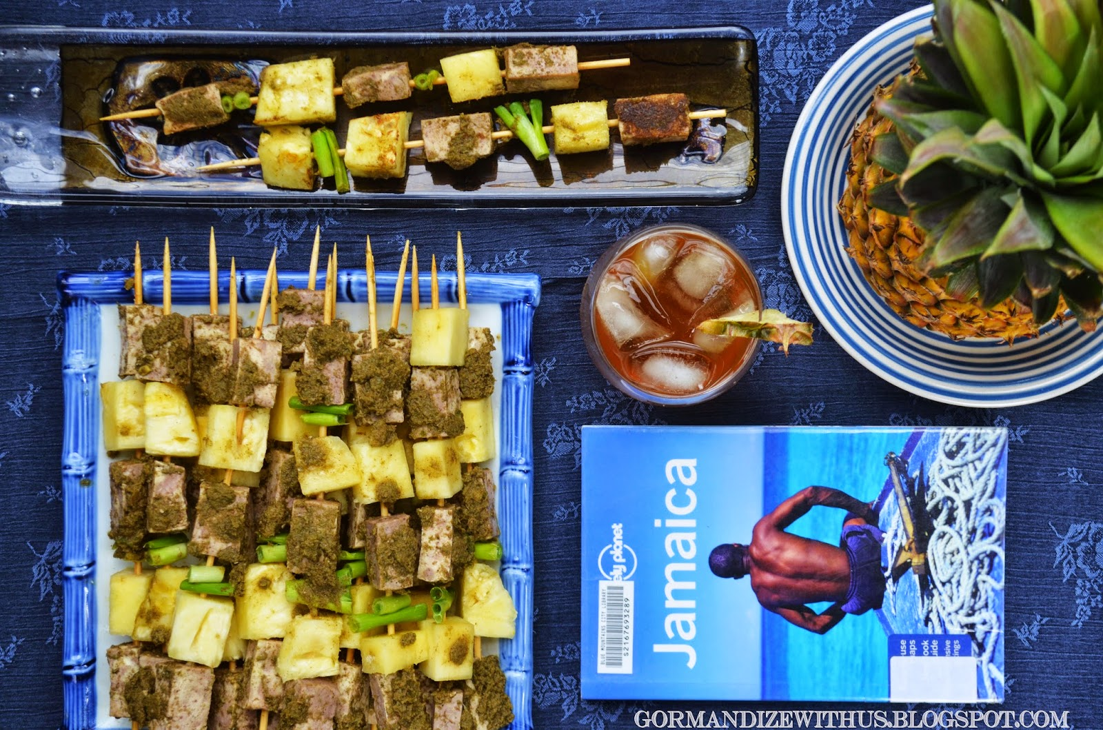 Gormandize: Jerk Tofu & Pineapple Skewers
