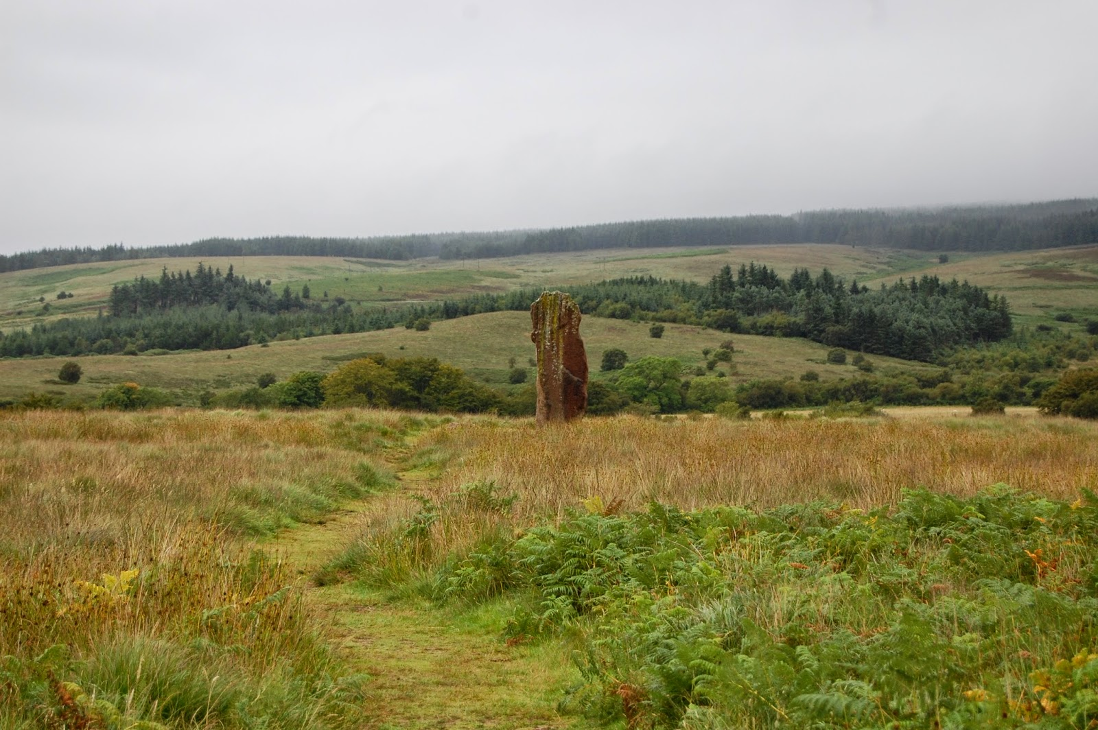 Solitary standing stone at Machrie Moor
