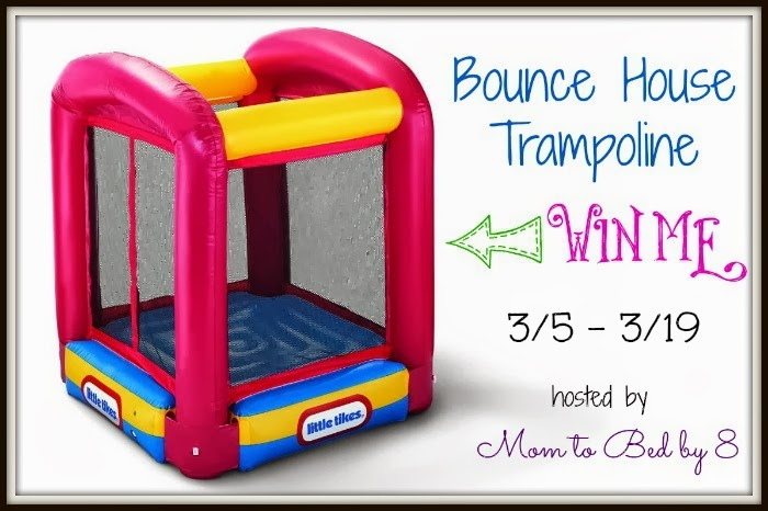 Enter to win the Bounce House Trampoline Giveaway. Ends 3/19.
