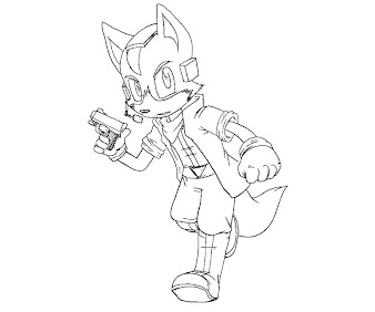#3 Fox McCloud Coloring Page