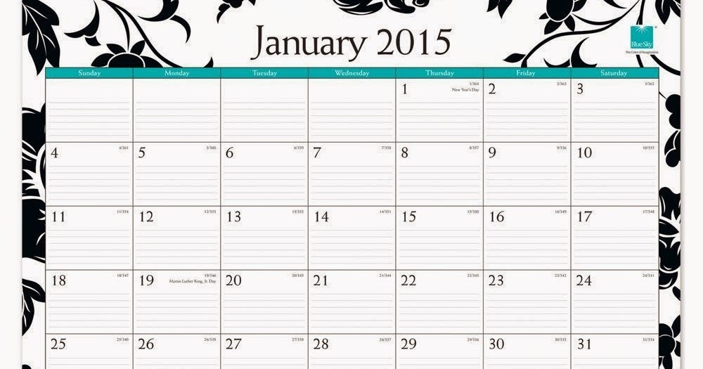 Blue Sky 2015 Barcelona Monthly Desk Pad Calendar Best