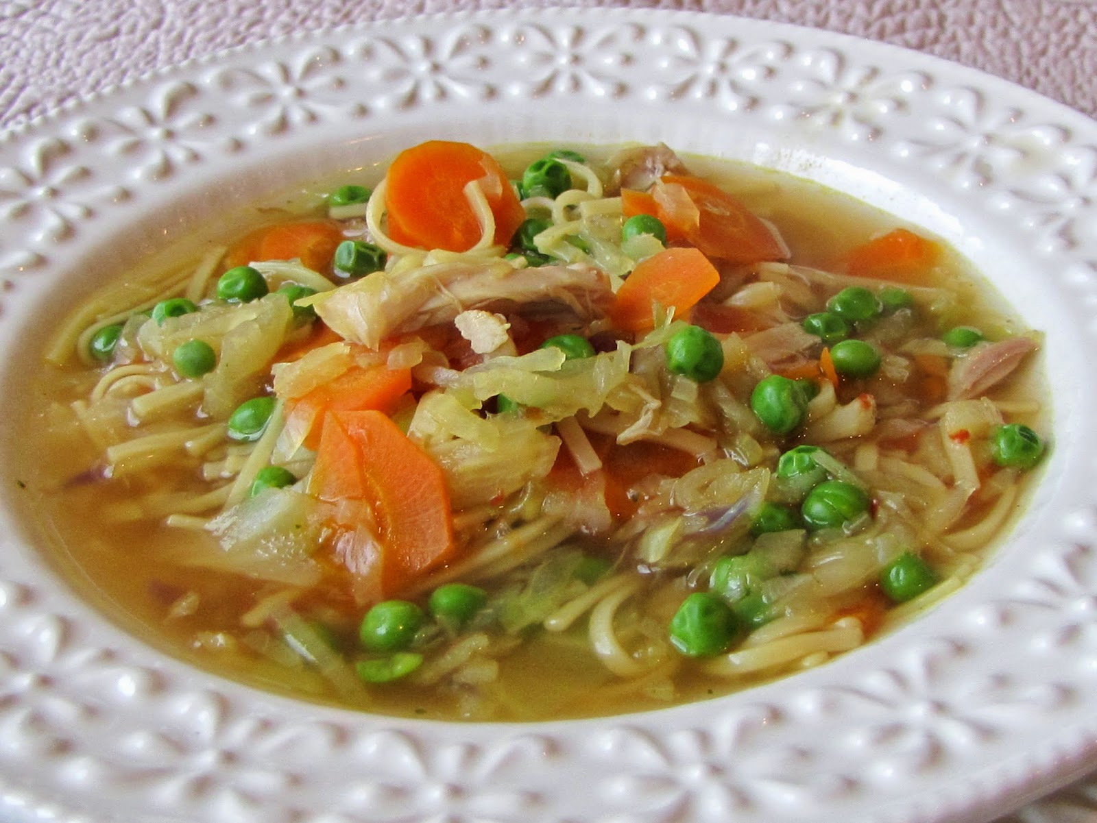 From my table to yours vegetable noodle soup for What vegetables to put in chicken noodle soup