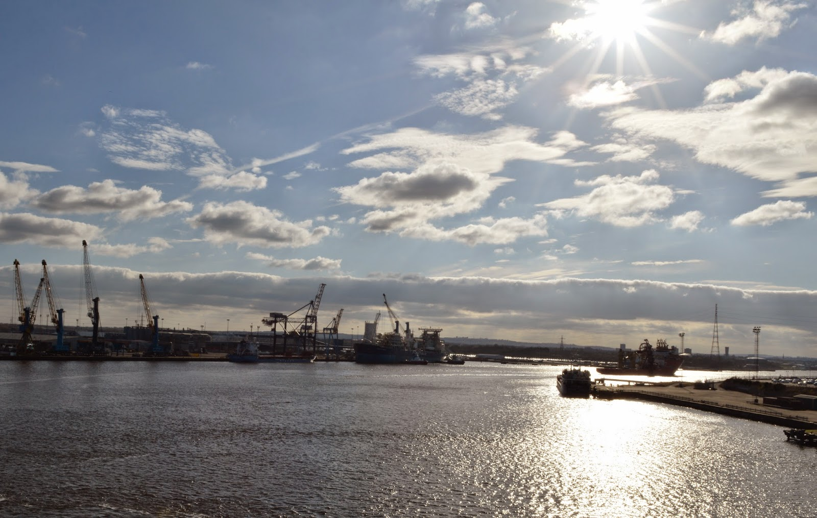 DFDS Seaways mouth of the tyne view