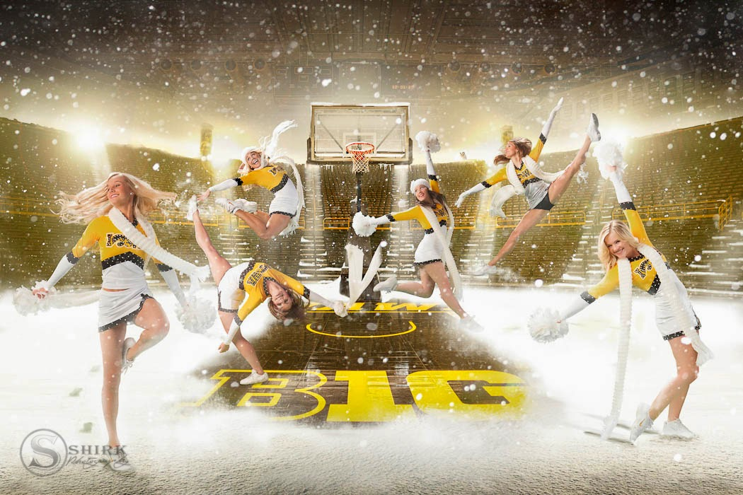 Here Are Just A Few That We Did This Year The First 5 From Calender Created For University Of Iowa Dance And Cheer Teams