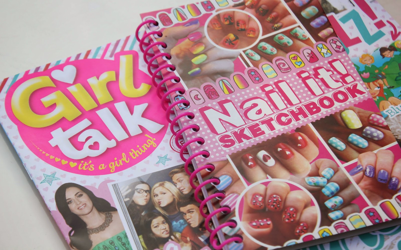 Girl Talk Magazine with Nail Art Kit