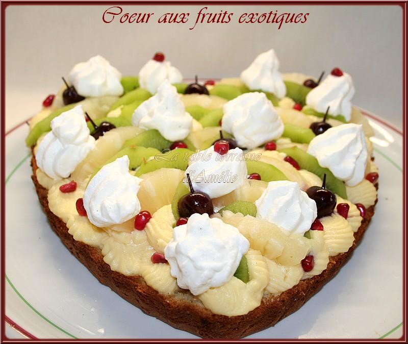 Coeur aux fruits exotiques