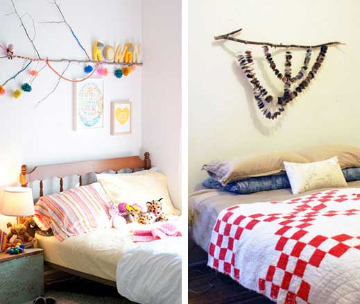 Recicla inventa c mo hacer un cabecero de cama con ramas tutorial - Como fabricar un cabecero de cama ...