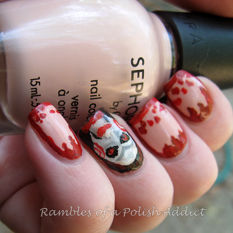 Saw Movie Nail Art Rambles Of A Polish Addict