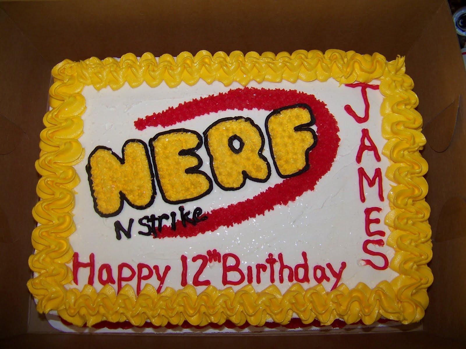 Cake Designs By Patty : PattyCakes cakes by Patty J: nerf cake