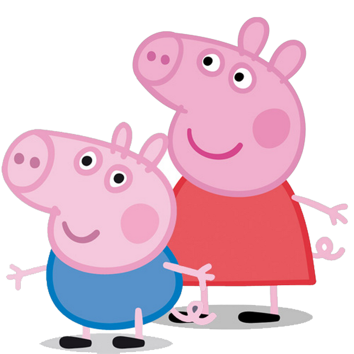 peppa pig y su hermanito