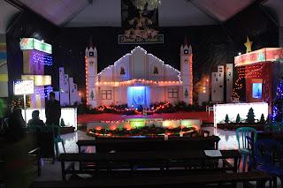 kawatuan art home: dekorasi natal gereja