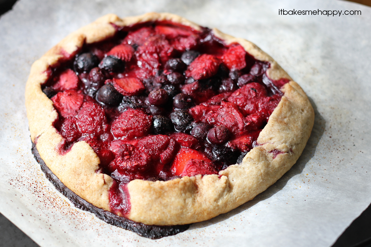 ... love the fresh fruity flavors of this delicious Mixed Berry Galette