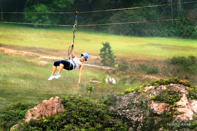 double zip line flying fox